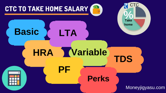 how to calculate take home salary from ctc