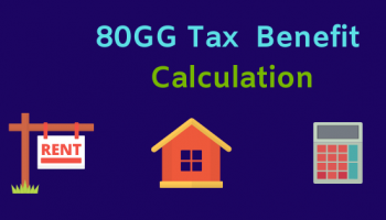 80GG Calculator Excel [AY 2019-20] for rent payment